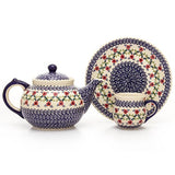 Polish Pottery Travel Cup 14 oz (K-115) Lattice