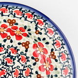 Polish Pottery Heart Container 2 qt (P-014) Red Poppies
