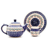 Polish Pottery Travel Cup 14 oz (K-115) Red Cherry