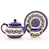 Polish Pottery Travel Cup 14 oz (K-115) Yellow Aster