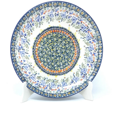 "Polish Pottery Round Dinner Plate 10"" (T-132S) Autumn"