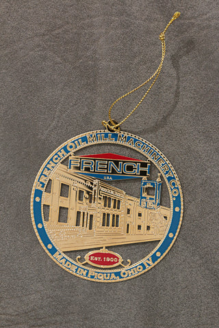 "French Oil Mill Machinery Company ""Made in Piqua"" Ornament"