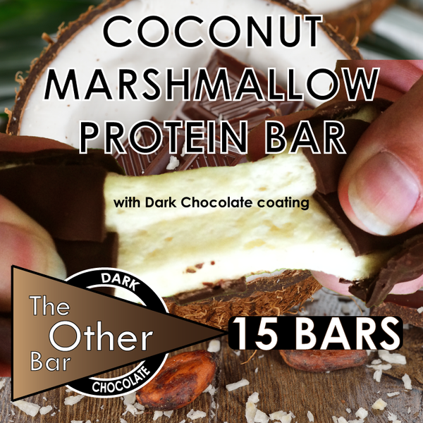 Dark Chocolate covered Coconut protein bars (15 bars)
