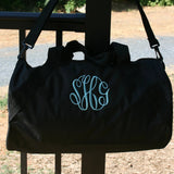 Personalized Black Gym Bag