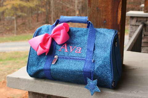 royal blue mini dance bag