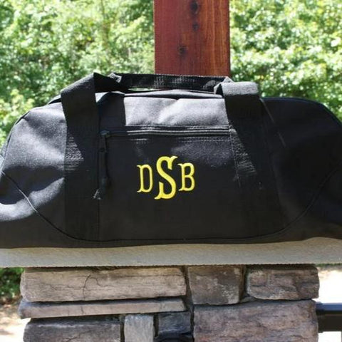 Large Black Duffel Gym Bag