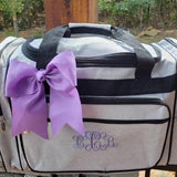 Glitter Dance Bag Silver Duffel Bag
