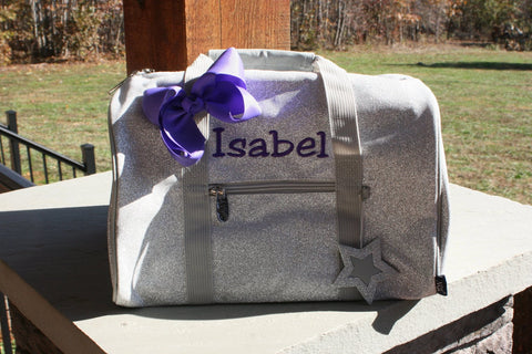 mini silver glitter dance bag