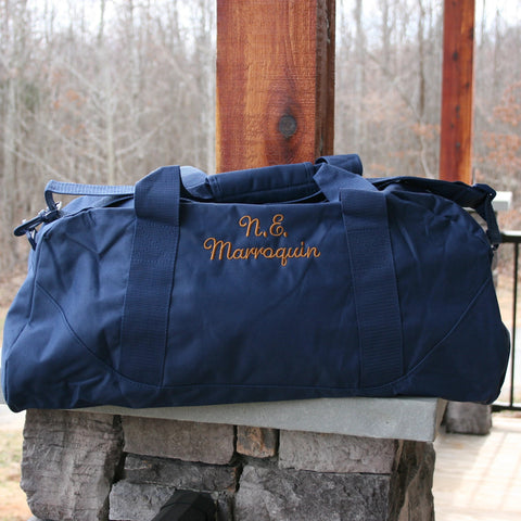 personalized-navy-duffle