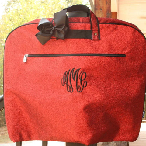 Red Glitter Dance Garment Bag