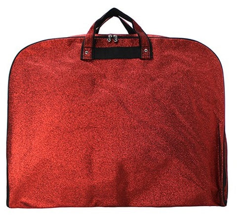 red glitter dance garment bag for dresses