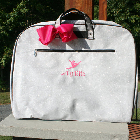 dancers silver garment bag
