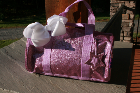 Small Lavender Glitter Dance Accessory Bag