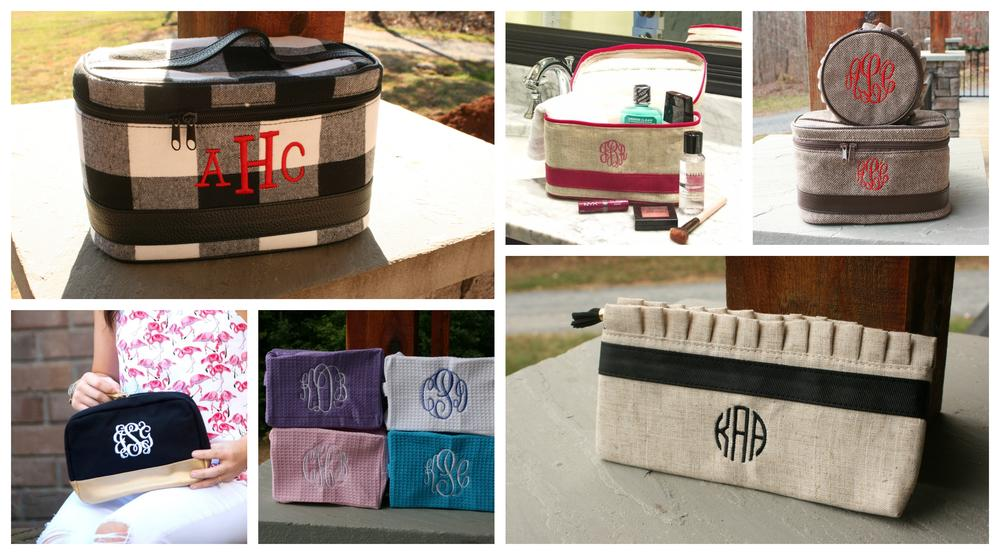 personalized make up and cosmetic bags
