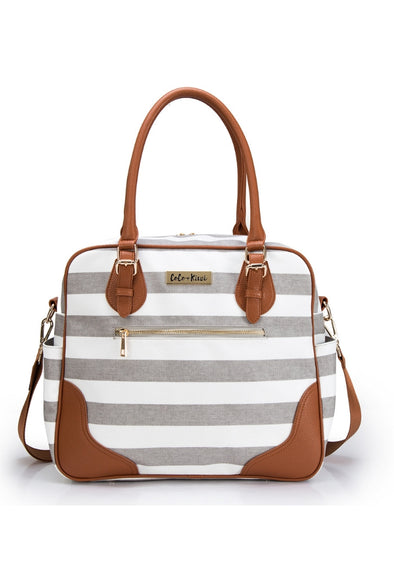 Coco and Kiwi - Provence Bag /Sandstone Stripe/ - Diaper Bag