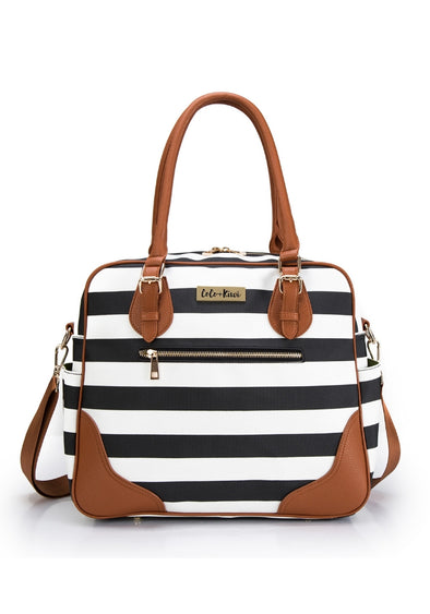 Coco and Kiwi - Provence Bag /Black Stripe/ - Diaper Bag
