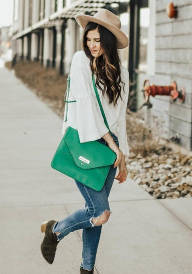 Coco and Kiwi - Milan Clutch - Emerald -