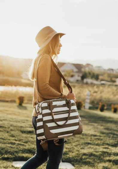 Coco and Kiwi - /Olive Stripe/ Provence Bag PREORDER - Diaper Bag