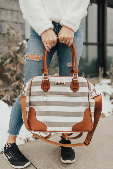 Provence Diaper Bag & Backpack  /Sandstone Stripe/