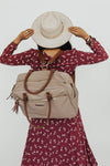 Santa Fe Diaper Bag worn as backpack