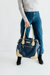 Provence Diaper Bag & Backpack /Navy/