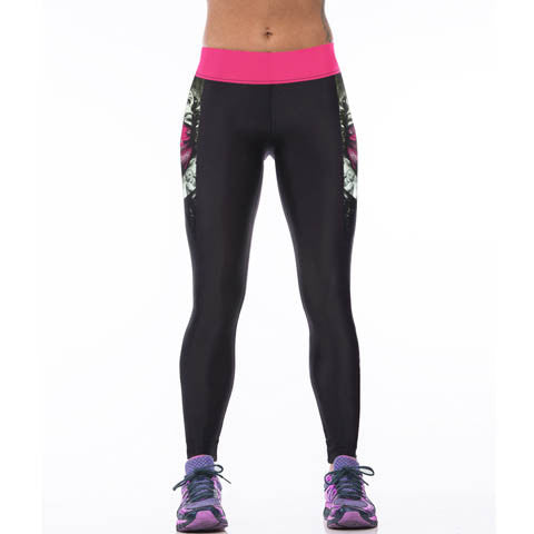 High-Waist Print Design Leggings