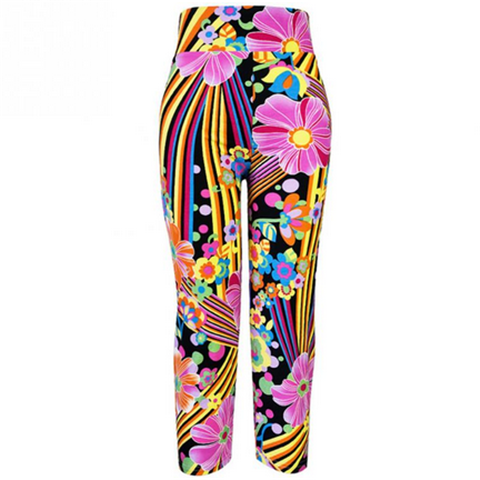 Flower Sports Leggings High Waist  Pants