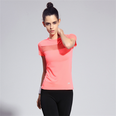 Quick Dry gym t shirt breathable Yoga women's sport t shirts - Rama Deals - 4