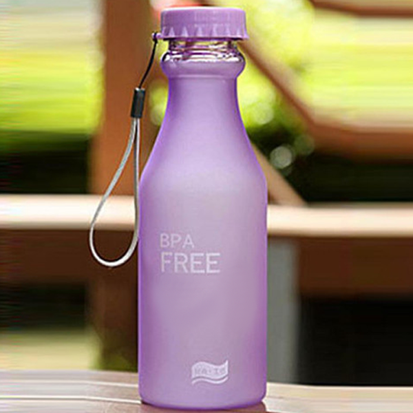 Leak-Proof Frosted Water Bottle
