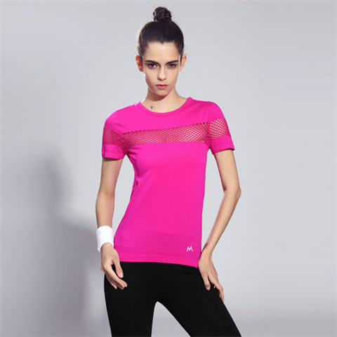 Quick Dry gym t shirt breathable Yoga women's sport t shirts - Rama Deals - 5