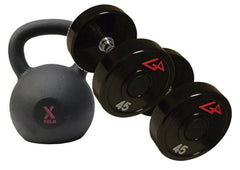 Kettlebells, Dumbbells, and Racks