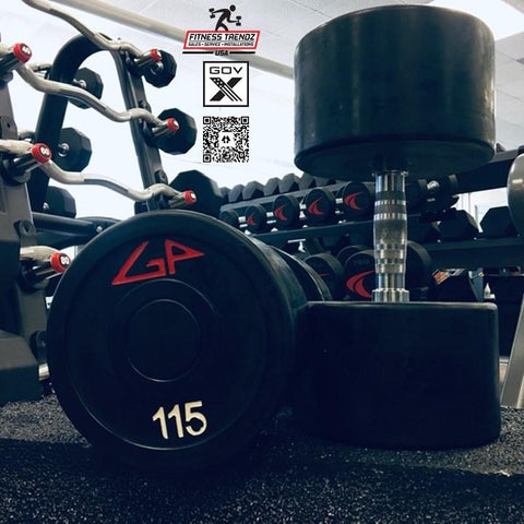 American Barbell GP Industries Rubber Coated Dumbbells - Fitness Trendz USA