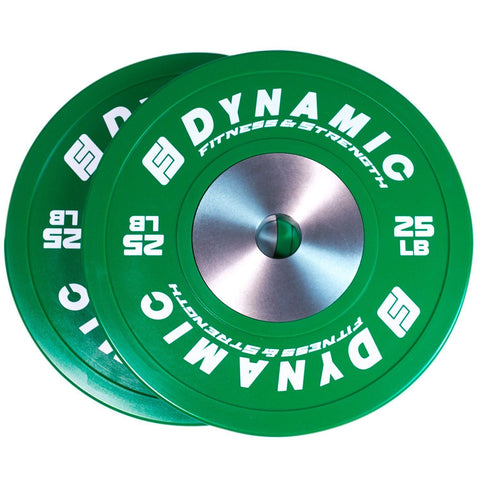 Dynamic Fitness & Strength Competition Rubber Bumper Plate - Pairs - Fitness Trendz USA