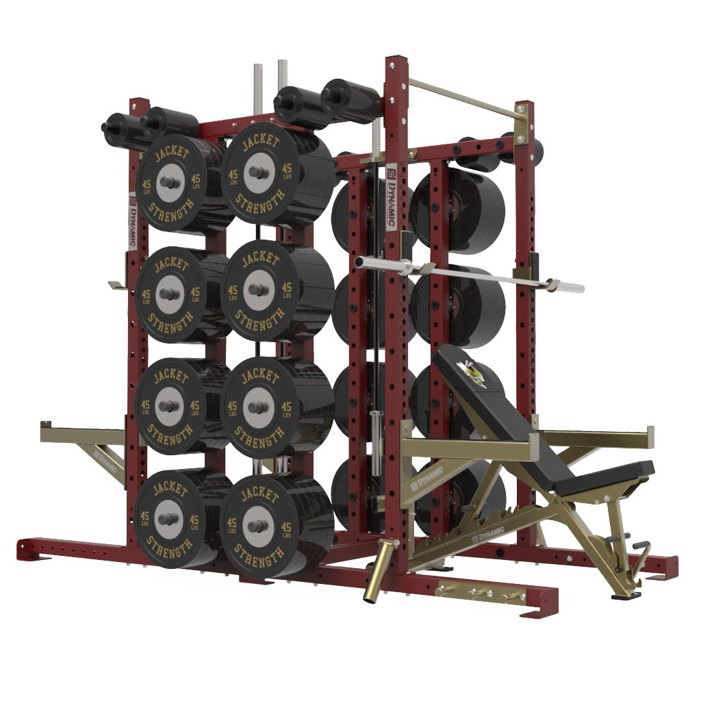 Dynamic Fitness & Strength Titan G2 Half Rack Double Post - Fitness Trendz USA