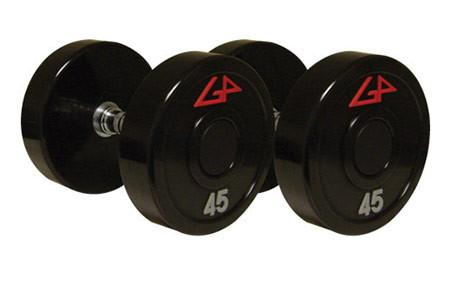 American Barbell GP Urethane Solid Steel Center Dumbbells - Fitness Trendz USA