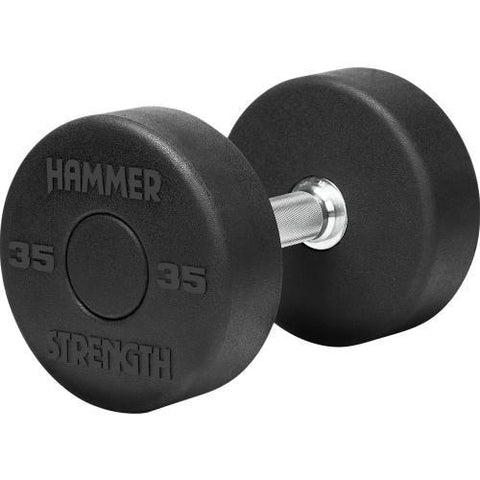Hammer Strength Round Rubber Dumbbells 5 - 50 lb Set - Fitness Trendz USA