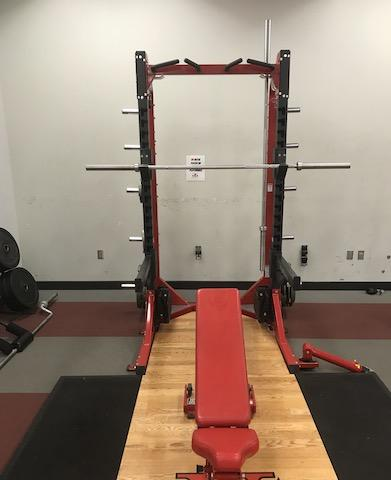 Hammer Strength HD Elite Half Rack with Wood Platform and Adjustable Bench Lock and Dock - Fitness Trendz USA