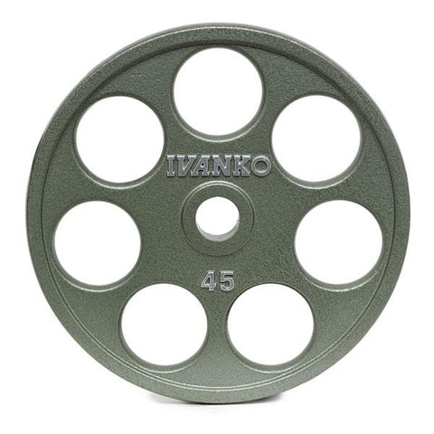 Ivanko Barbell Olympic E-Z Lift® Plate with Round Openings - Fitness Trendz USA