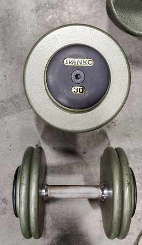 Ivanko Barbell Steel Pro-Style Dumbbells - Fitness Trendz USA