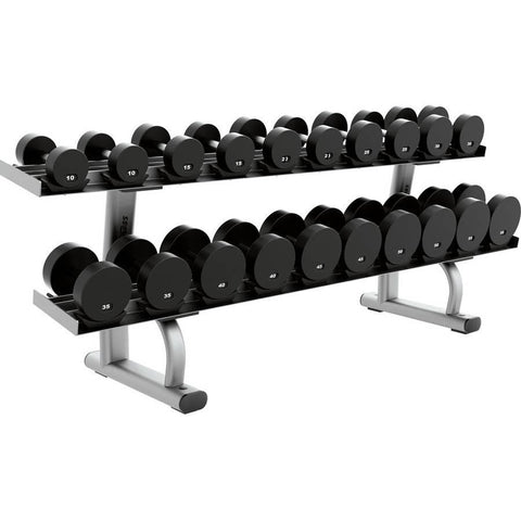 Life Fitness 2 Tier Dumbbell Rack - Fitness Trendz USA