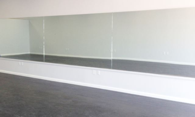 "Mirror Installed 96"" Wide x 60"" Tall - Fitness Trendz USA"
