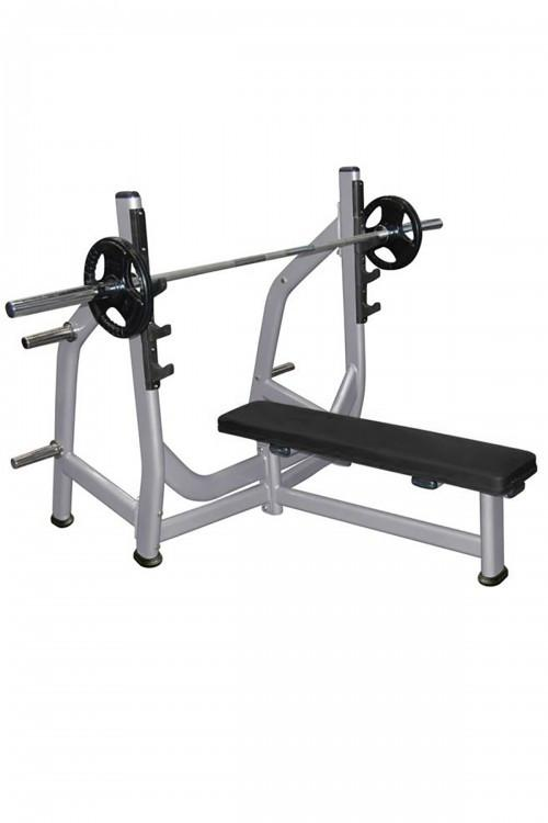 Muscle D Olympic Flat Bench with Weight Storage - Fitness Trendz USA