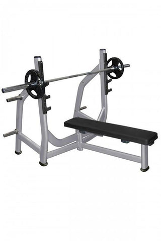 Muscle D Fitness Olympic Flat Bench with Weight Storage - Fitness Trendz USA
