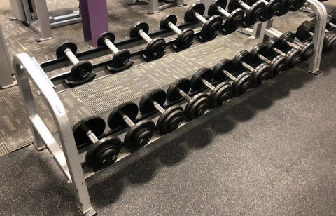 Nautilus 2 Tier Dumbbell Rack - Fitness Trendz USA