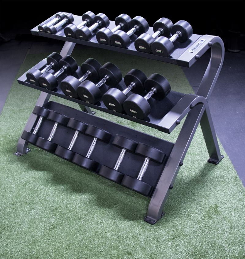 Strencor 3 Tier Dumbbell Rack Platinum Series - Fitness Trendz USA