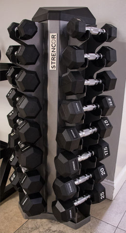 Strencor 8 Pair Vertical Dumbbell Rack - Fitness Trendz USA