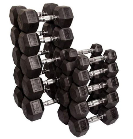 Strencor Rubber Encased Hex Dumbbells - Fitness Trendz USA