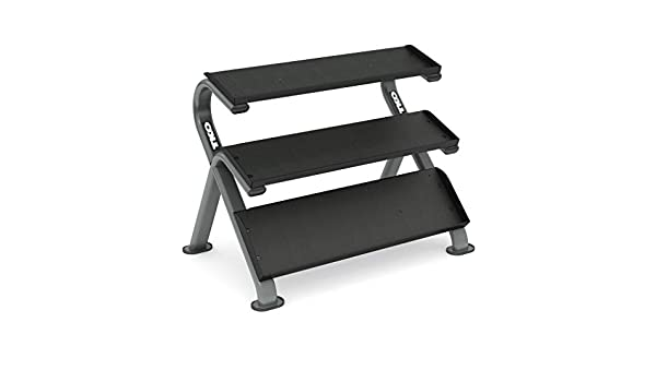 TKO Strength & Performance 3-Tier Horizontal Dumbbell Rack with Oval Tubing - Fitness Trendz USA