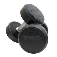 TKO Strength & Performance Rubber Encased Dumbbells 5 to 50 lb Set - Fitness Trendz USA