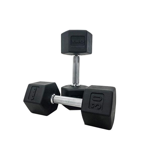 TKO Strength & Performance Straight Handle Hex Dumbbells  at Fitness Trendz USA